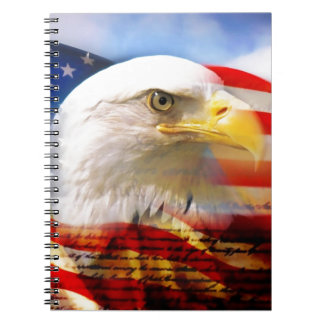 American Flag with Bald Eagle Notebook