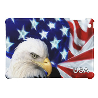 American Flag with Bald Eagle Patriotic Cover For The iPad Mini