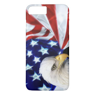 American Flag with Bald Eagle Patriotism iPhone 7 Plus Case