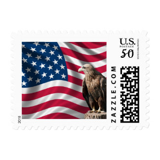 American Flag with Bald Eagle Postage Stamps