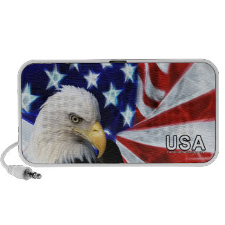 American Flag with Bald Eagle Mp3 Speaker