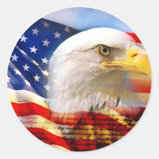 American Flag With Bald Eagle Sticker Zazzle