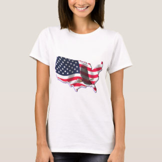 American Flag with Bald Eagle T-Shirt