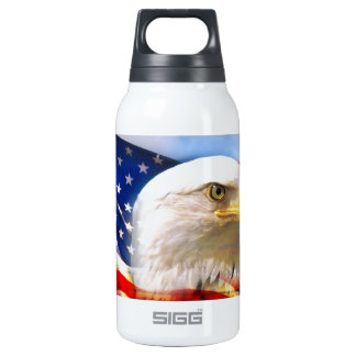 American Flag with Bald Eagle Thermos Water Bottle
