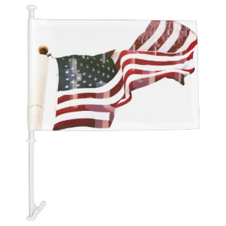 American Flag with Crosses