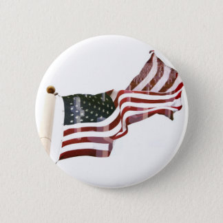 American Flag with Crosses Pinback Button