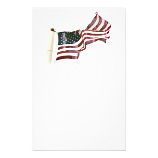 American Flag with Crosses Stationery