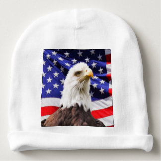 American Flag with Eagle Baby Beanie
