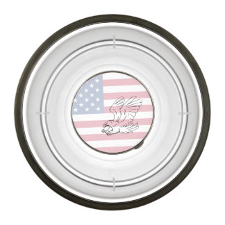 American Flag with Eagle Bowl