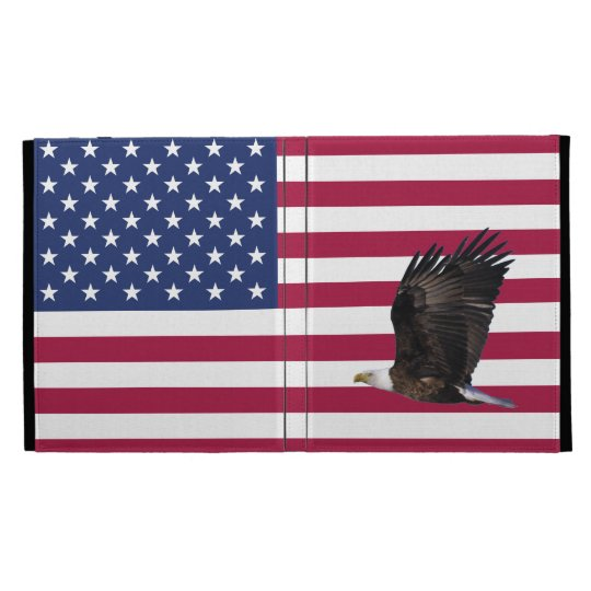 American Flag with Eagle iPad Folio iPad Folio Case