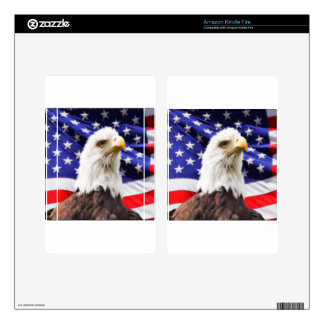 American Flag with Eagle Skins For Kindle Fire