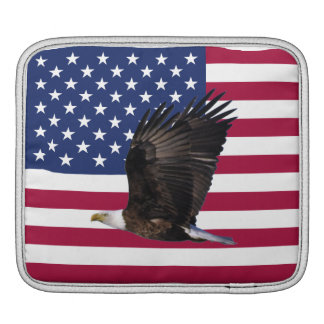 American Flag with Eagle Tablet Computer Sleeve