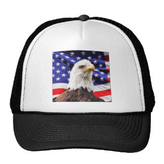 American Flag with Eagle Trucker Hat