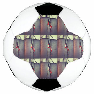 American Flag with Grain Bins Soccer Ball