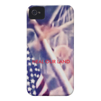 American Flag with Inspirational Quote iPhone 4 Case