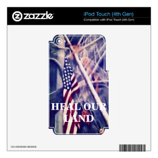 American Flag with Inspirational Quote Skin For iPod Touch 4G