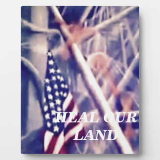 American Flag with Inspiring Quote Photo Plaque
