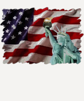 American Flag with Lady Liberty T Shirt