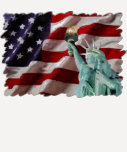 American Flag with Lady Liberty T-shirt
