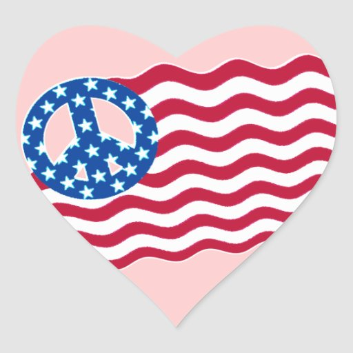 American Flag With Peace Symbol Stickers Zazzle
