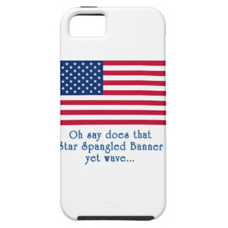 American Flag with Star Spangled Banner Quote iPhone SE/5/5s Case