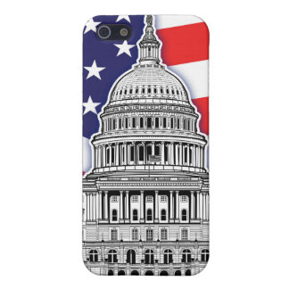 American Flag with The U.S. Capitol Building Case For iPhone SE/5/5s