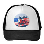american flag with twin tower building firefighter trucker hat