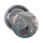 American Flag with Utah Mountain Background Button