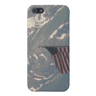 American Flag with Utah Mountain Background Case For iPhone SE/5/5s