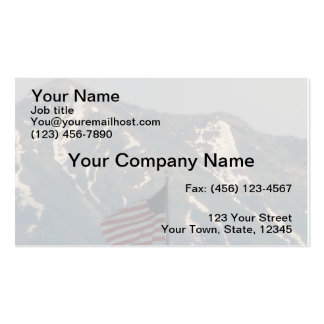 American Flag with Utah Mountain Background Double-Sided Standard Business Cards (Pack Of 100)