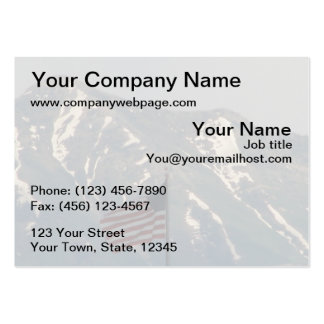 American Flag with Utah Mountain Background Large Business Cards (Pack Of 100)