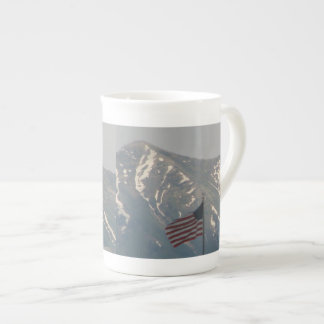 American Flag with Utah Mountain Background Tea Cup