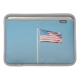 American flag with vintage look MacBook sleeve