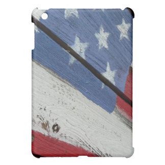 American Flag Wood Grain iPad Case