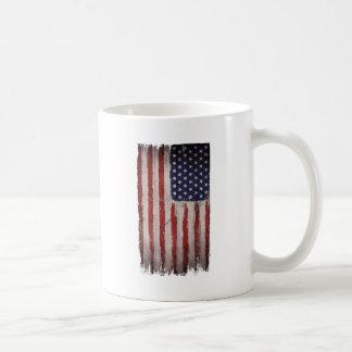 American flag Wood Grunge Vintage Coffee Mug
