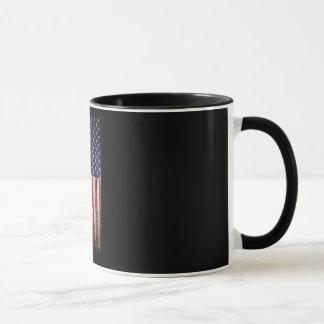 American flag Wood Grunge Vintage Mug