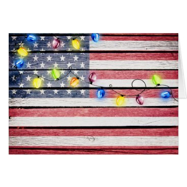 American Flag Wood Image Christmas