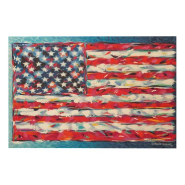USA Themed American Flag Wood Wall Art