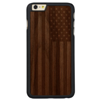American Flag Wooden Carved® Walnut iPhone 6 Plus Case