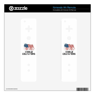 American Flag World Champions Skins For The Wii Remote