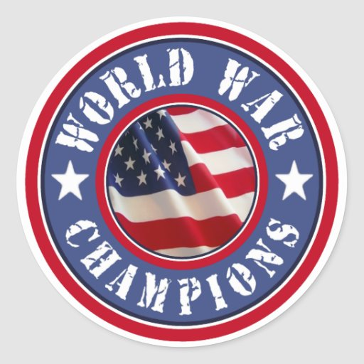 American Flag World War Champions Stickers
