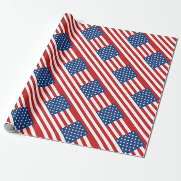 American Flag Wrapping Paper