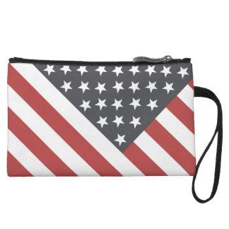 American Flag Wristlet Wallet