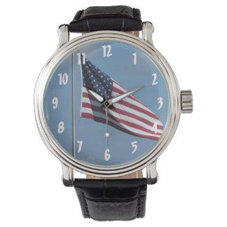 American Flag Wristwatch