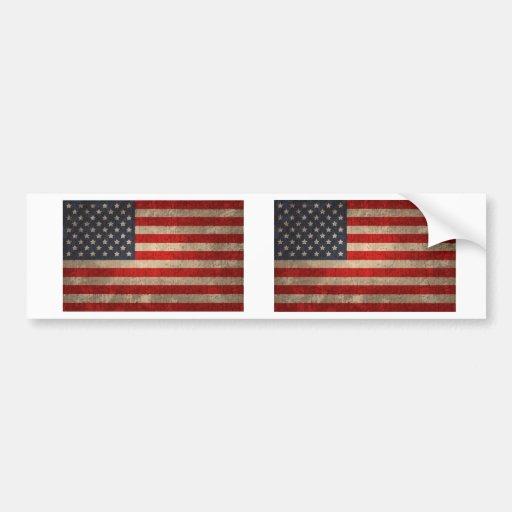 American Flag - xdist Bumper Stickers