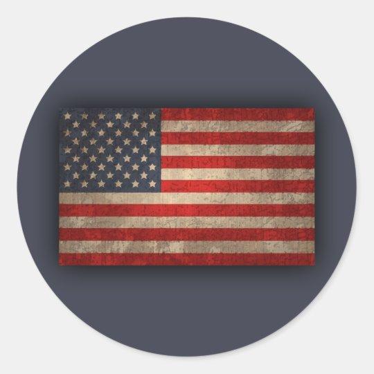 American Flag - xdist Classic Round Sticker