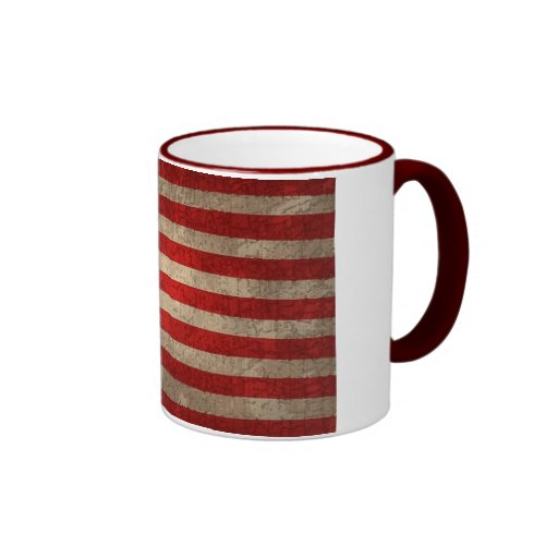 American Flag - xdist Ringer Coffee Mug