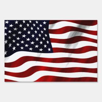 American Flag Lawn Signs