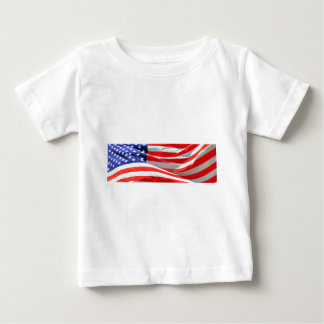 American Flag, you can add text and upload photos Baby T-Shirt