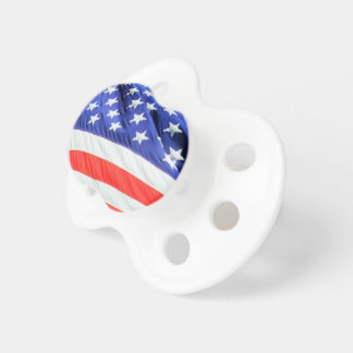 American Flag, you can add text and upload photos Pacifier